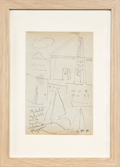 Fernand Léger (1881-1955). Le pont transbodeur de Marseille, 1940. Dessin.