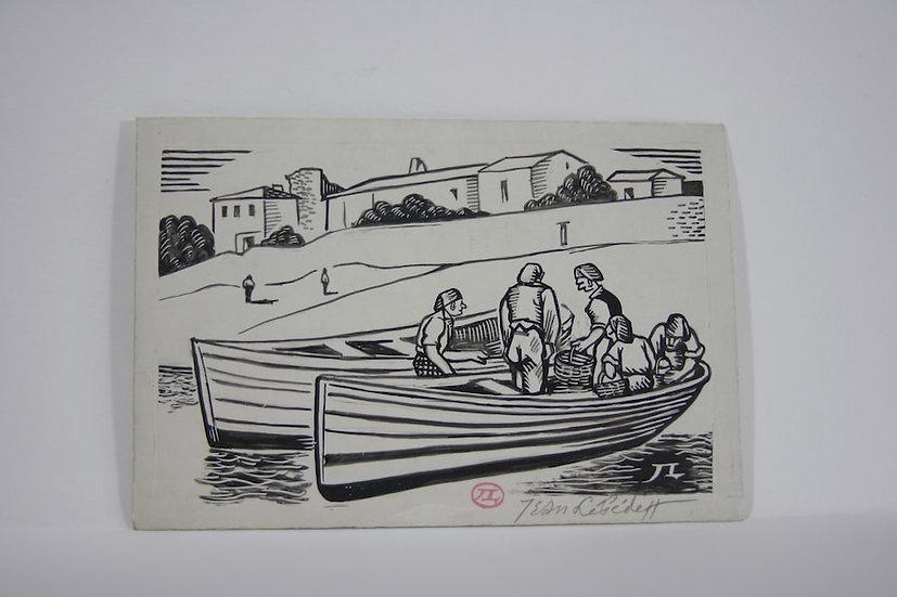 Jean Lébédeff (1884-1972). Dessins d'illustrations. Signés.