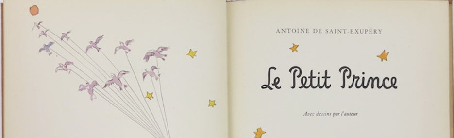 Le Petit Prince. First edition, signed by Saint Exupéry.