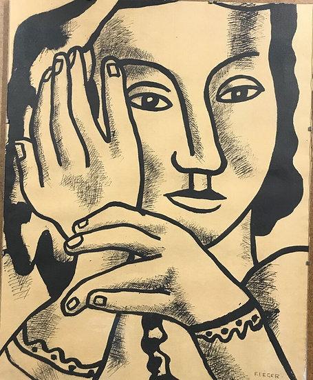 """Fernand Léger (1881-1955) et Louis Aragon (1897-1982). """"Contrastes"""". 1959."""