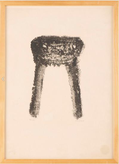 Henri Michaux(1899-1984). Lithographie signée.