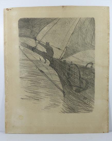 TOULOUSE-LAUTREC. Oceano Nox. 1895. 1er état. Numérotée.