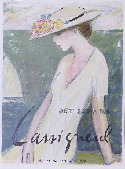 Jean Pierre Cassigneul. Le bonheur entrevu. 1988. Affiche lithographiée.
