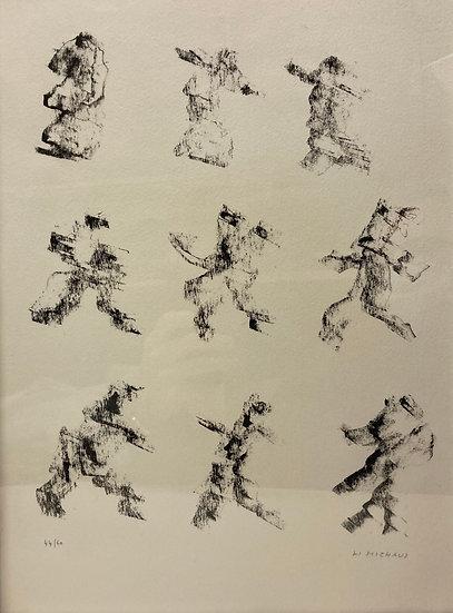 Henri Michaux (1899-1984). Lithographie signée et numérotée.