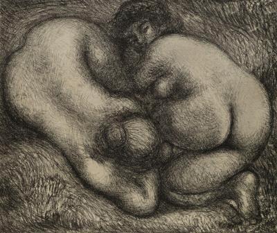Aristide Maillol (1861-1944), Deux femmes dans l'herbe.