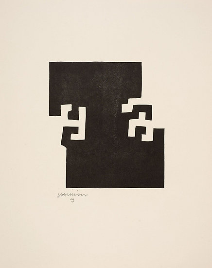 Eduardo Chillida(1924-2002). Bois gravé, signé. 1973.