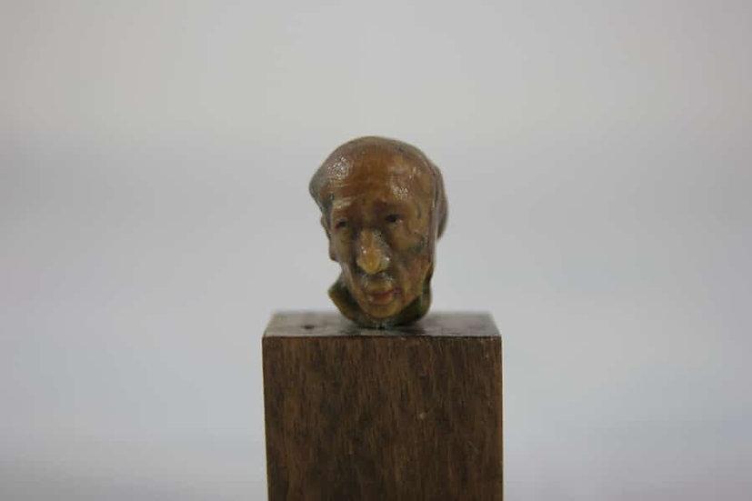 Sacha Zaliouk. Tête d'homme. Sculpture en bois.