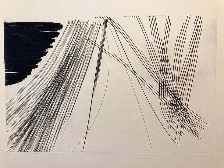 Hans Hartung (1904-1989) Estampas de la Cometa, 1971. Eau-forte signée.