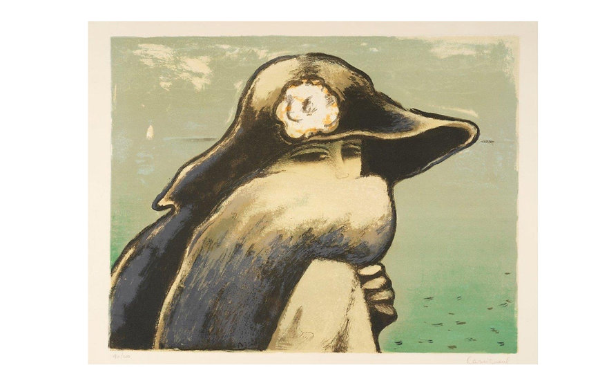 Jean-PierreCassigneul (1935-). Le Renard Gris, 1974. Lithographie signée.