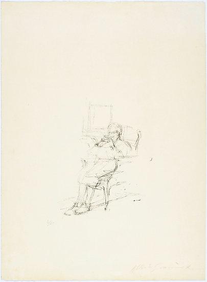 Alberto Giacometti 1901 - 1966). La mère de l'artiste assise II.