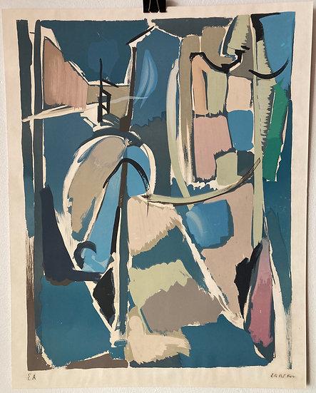 André Lanskoy (1902 - 1976). Lithographie signée.
