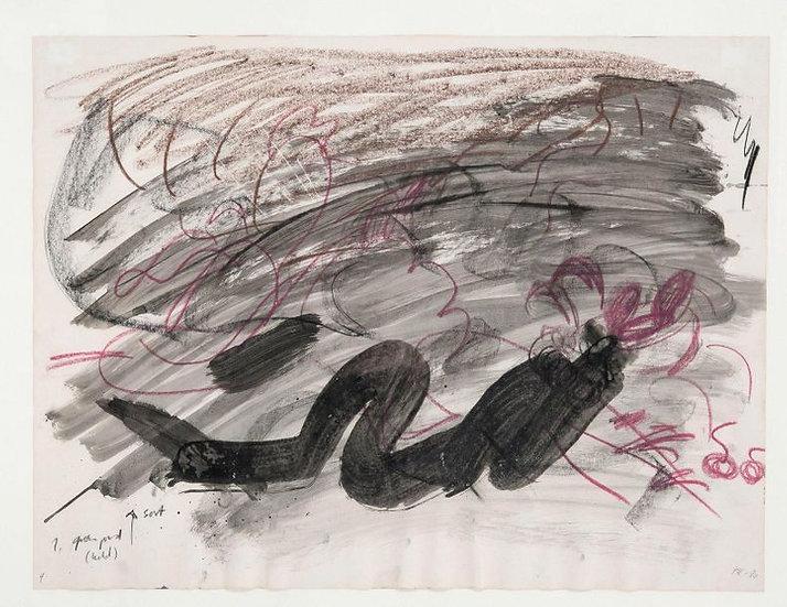 Per Kirkeby (1938-2018).Sans titre, 1980. Encre, lavis d'encre et crayon.