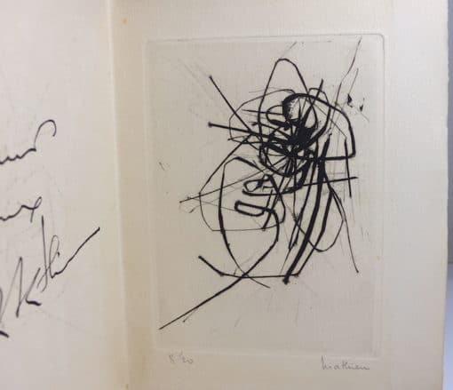 Georges Mathieu. Eau-forte. Signée et numérotée.