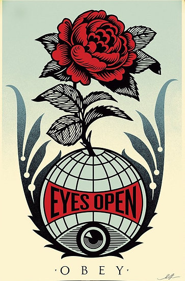 Shepard FAIREY - Eyes Open - Signed lithograph