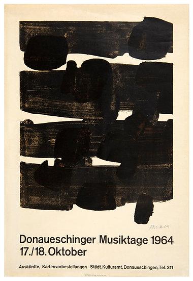 Pierre Soulages(né 1919). Lithographie n°12, 1964, signée.