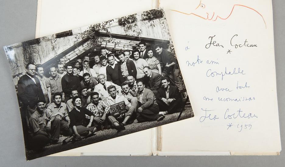 Cocteau. Images de Jean Cocteau. Matarasso 1957. Avec un dessin original.