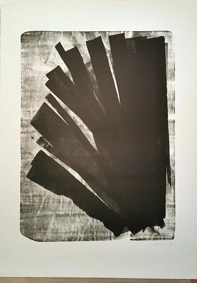 Hans Hartung (1904-1989) L 1973-58, 1973. Lithographie signée.