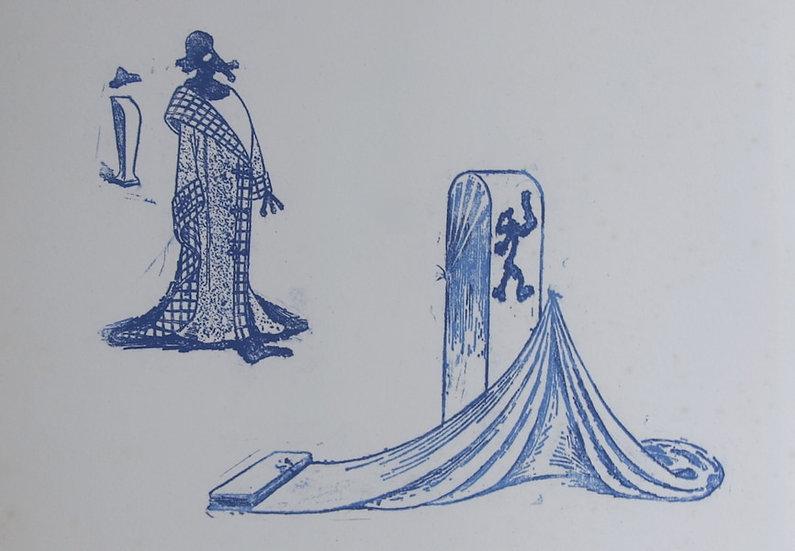 Max Ernst (1891-1976). Décervelages, Jarry. 1971. Signé