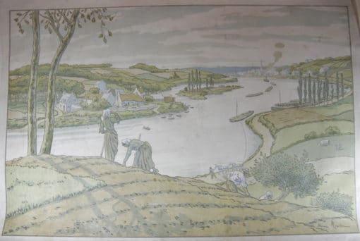Henri Rivière (1864-1951). Le Fleuve. 1897. Lithographie