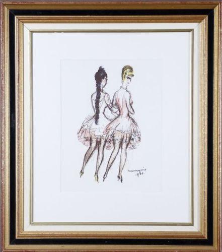 Kees VAN DONGEN. Les mannequins. 1960. Lithographie.