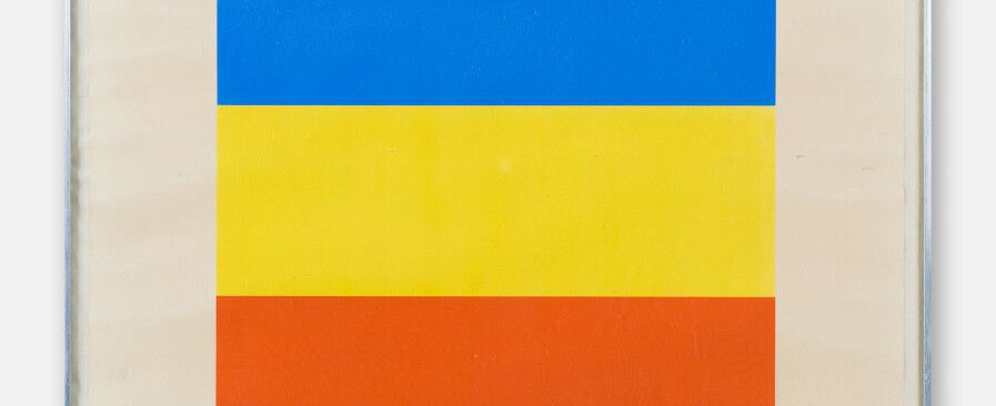Kelly Ellsworth (1923-2015). Red, Yellow, Blue. Vers 1970-1973. Signed.