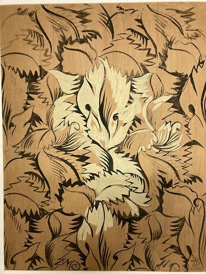 Raoul Dufy (1877-1953). Sans titre. Encre et gouache.