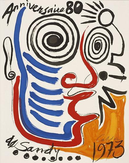 Alexandre Calder (1898-1976) Lithographie signée. 1973