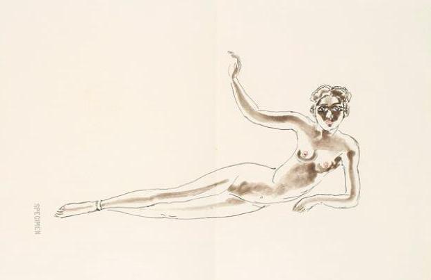 Kees Van Dongen (1877-1968). Négresse. Eau-forte en couleurs. 1967.