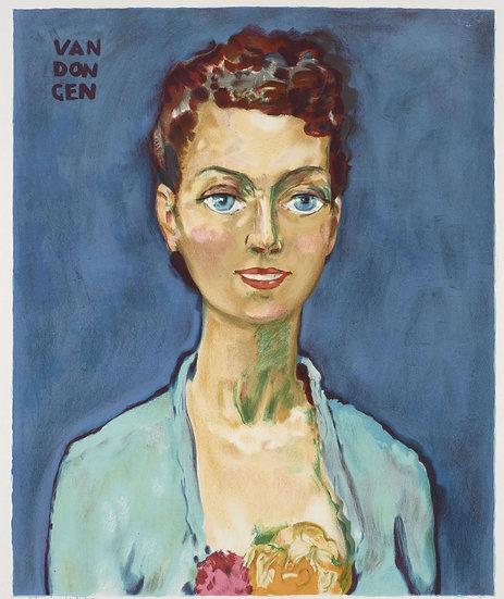 Kees van Dongen (1877-1968). Hommage à Marie-Claire. Lithographie signée.
