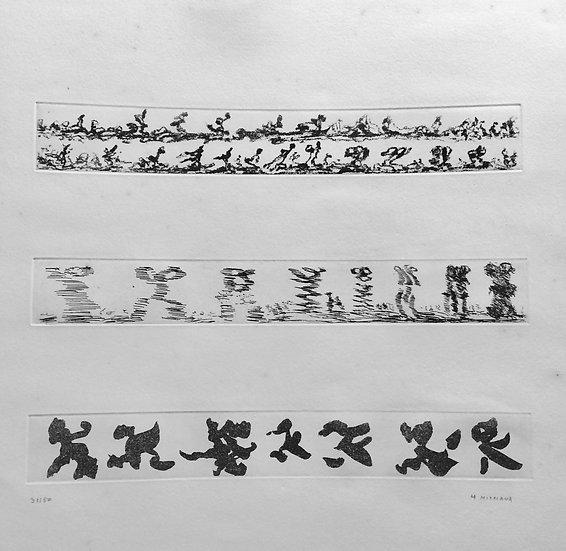 Henri Michaux. Composition. Eau-forte. Signée et numérotée.