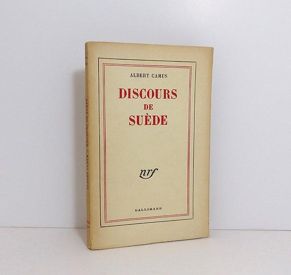 Albert Camus (1913-1960). Discours de Suède. 1958. Dédicacé.