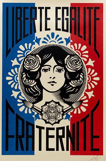 Shepard FAIREY dit OBEY (1970) - Liberté, Egalité, Fraternité - Signée.