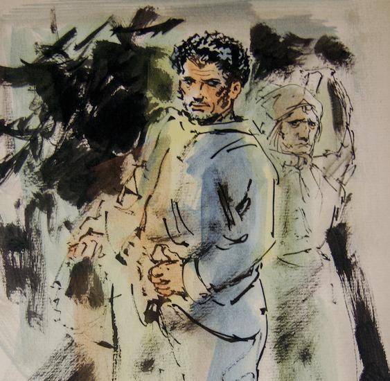 Sacha Zaliouk (1887–1971). Aquarelle originale et encre noire.