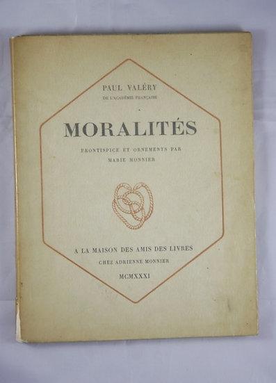 Paul VALERY. Moralités. Edition originale dédicacée.