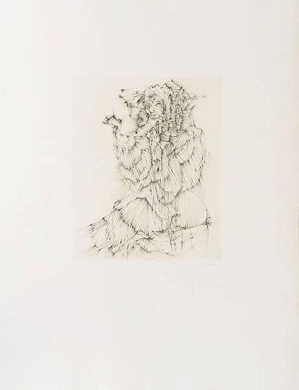 Hans Bellmer. Dame. c. 1970. Eau-forte signée.
