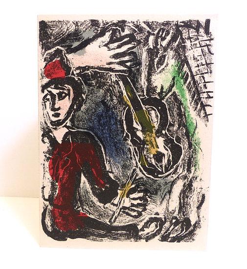Marc Chagall. Carte de vœux. 1971