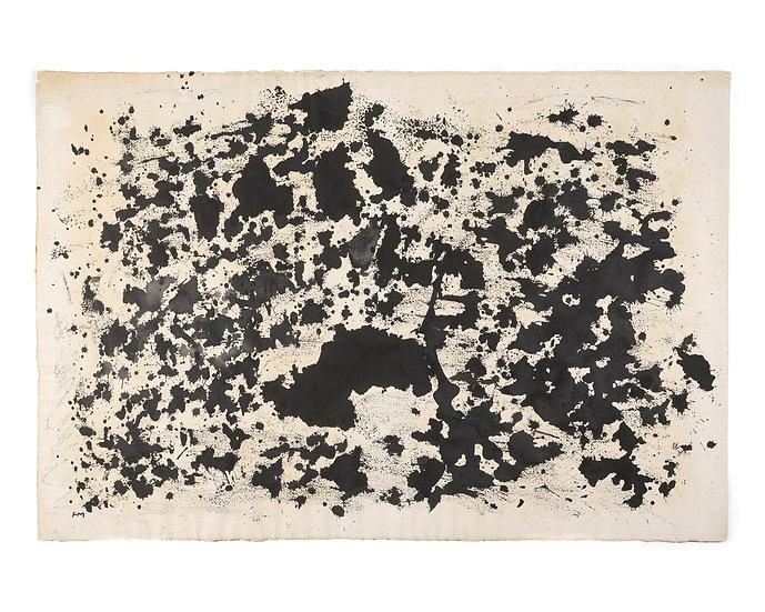 Henri Michaux(1899-1984) Sans titre. Encre et acrylique. Signée.