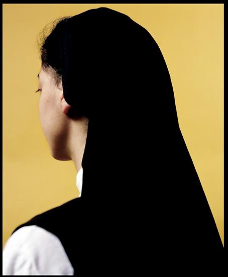Andres Serrano (born in 1950).Soeur Yvette II. C-print signed.