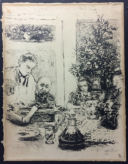 Edouard Vuillard (1868-1940). Le repas. 1935. Lithographie signée.