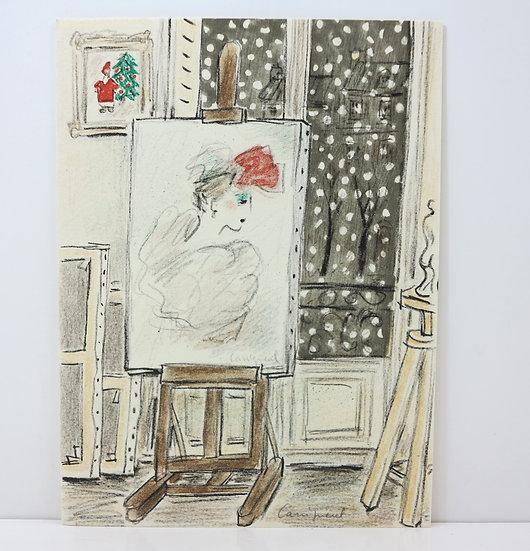 Jean Pierre Cassigneul (né en 1935). Lithographie signée.