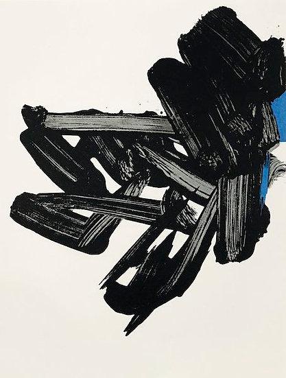 Pierre Soulages (né en 1919). Lithographie n° 17. P. Berès éditeur.