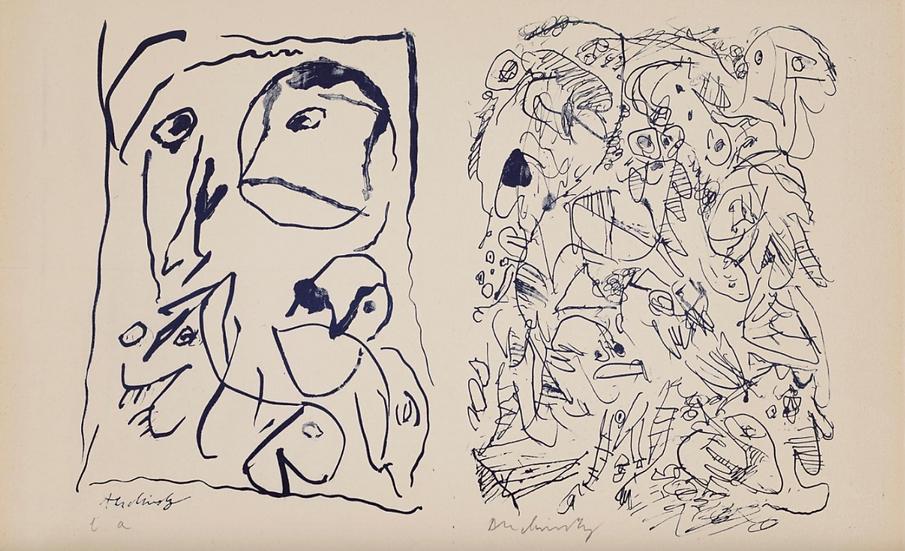 Pierre Alechinsky (né en 1927) Sans titre. Lithographie signée.