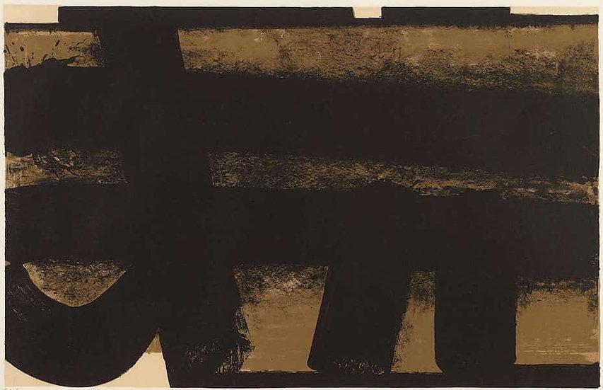 Pierre Soulages (né en 1919). Lithographie 35 – 1974. Signée et numérotée.