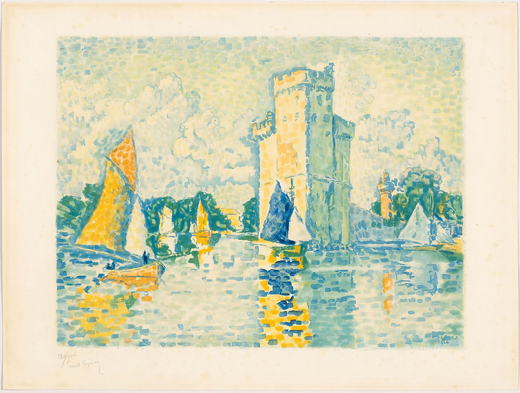 Paul Signac (1863-1935), Le Port de La Rochelle. 1924. Aquatinte signée.