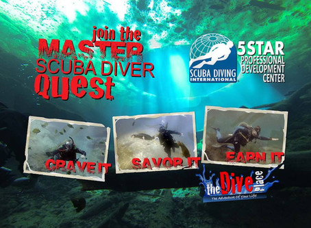 Join the Quest to become a SDI Master Scuba Diver