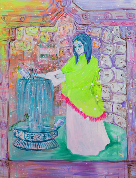 Girl and Fountain - The Bohemian Palace