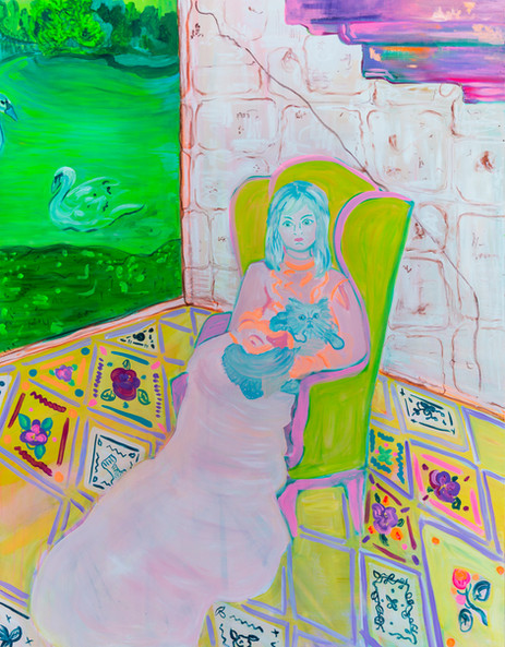 Girl and Green Chair - The Bohemian Pala