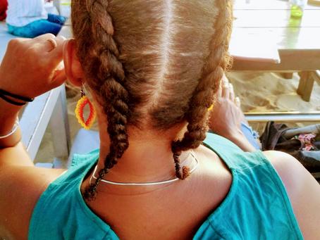 Black Latina summer braids, plaited in three…