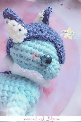 Vaporeon Amigurumi Stuffed Animal Plush.