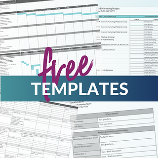Free marketing planning templates available to download
